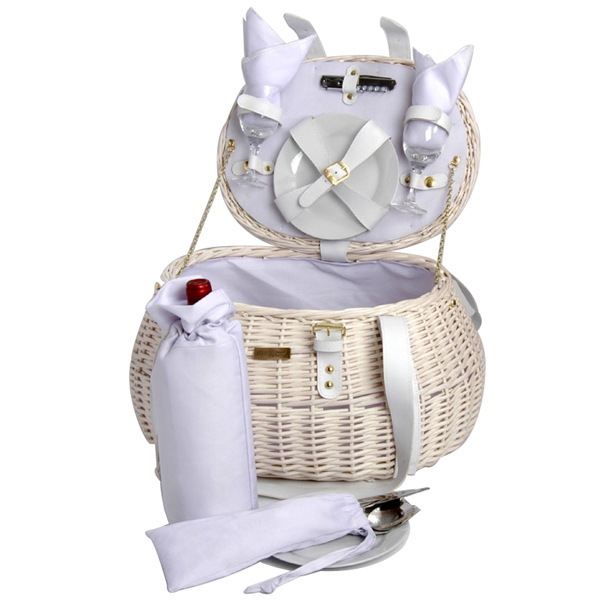 Wedding Gift Picnic Basket : ... Outlet : New White Willow Wedding Picnic Basket Set Shower Gift