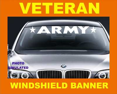 The Decal Warehouse Windshield Visor Banner Army Navy