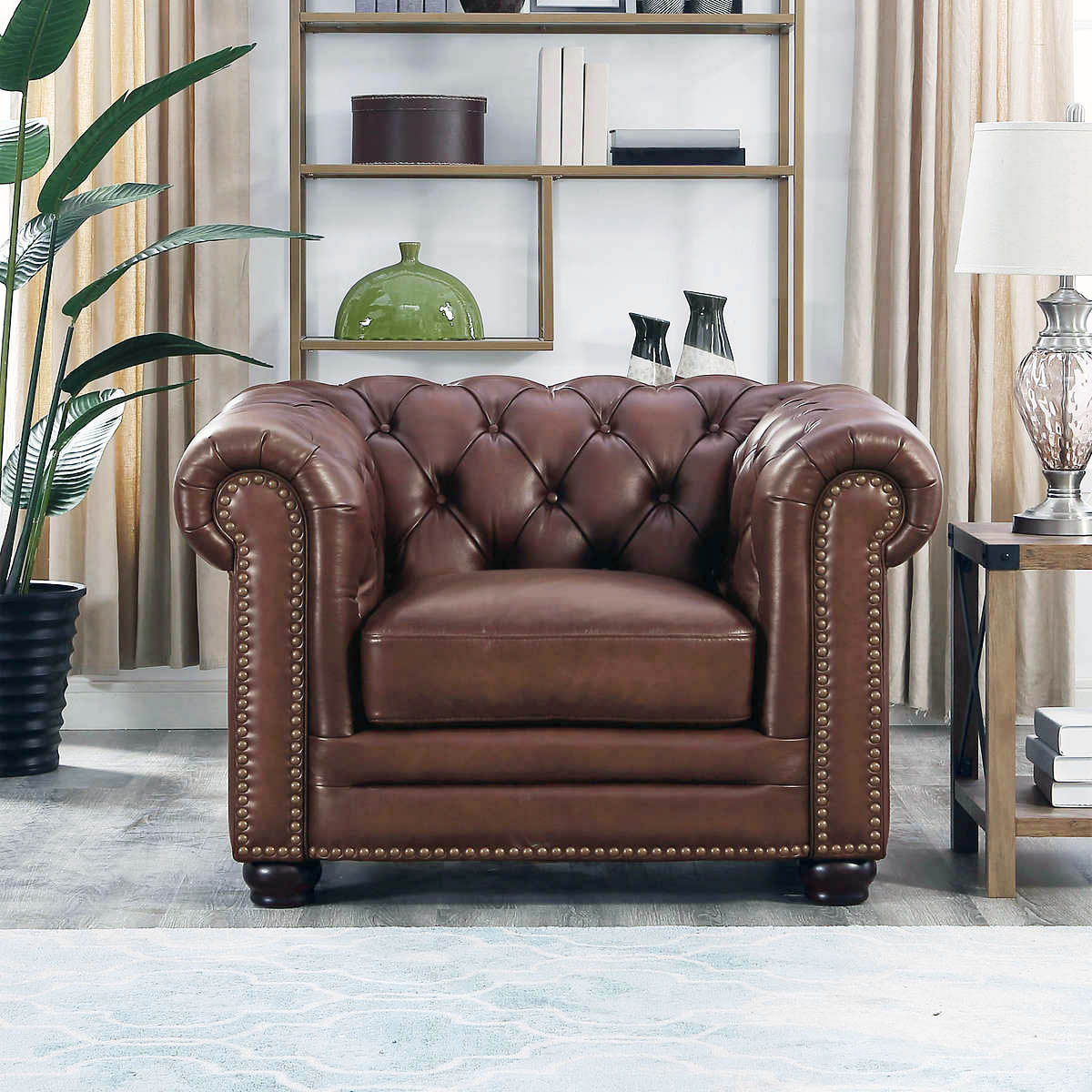 Magnificent Details About New Chesterfield Lounge Chair Top Grain Walnut Brown Leather English Rh Style Machost Co Dining Chair Design Ideas Machostcouk