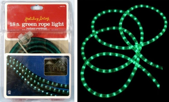 18 FOOT GREEN Holiday Living STRING of ROPE LIGHTS Indoor / Outdoor Tube  sc 1 st  CarryMore & CarryMore : 18 FOOT GREEN Holiday Living STRING of ROPE LIGHTS ...