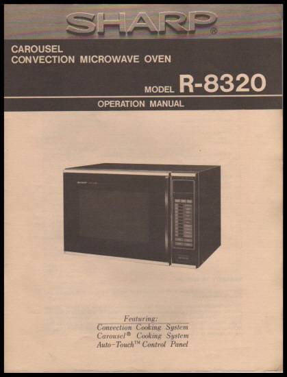 Sharp Carousel Ii Microwave Operation And Cooking Guide Pdf
