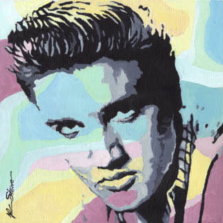 Kidmiracle Painting Elvis Presley Retro 50 S Abstract
