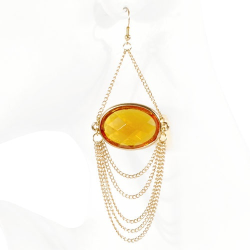 Bronze Dangling Bead Earrings