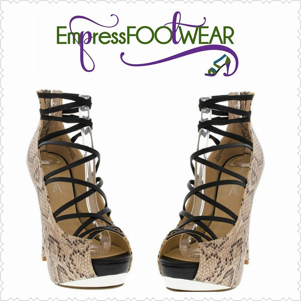 NEW WOMEN NUDE SNAKE PRINT FAUX LEATHER STRAPPY PL