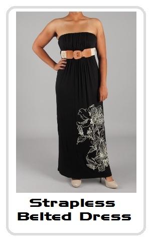 Black Strapless Maxi Dress on Black Belted Strapless Maxi Dress Price   30 00 Strapless Belted Dress