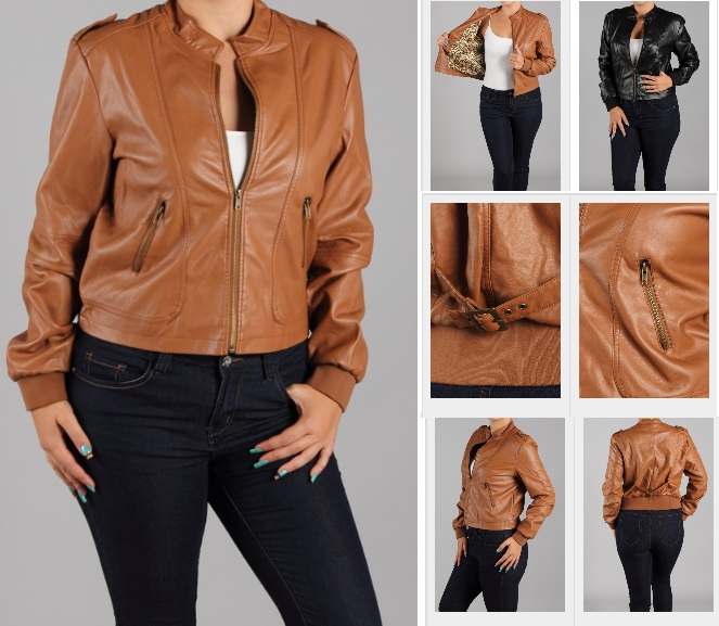 Fully Lined Faux Leather Jacket