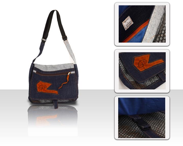 Handmade Denim Messenger Bag