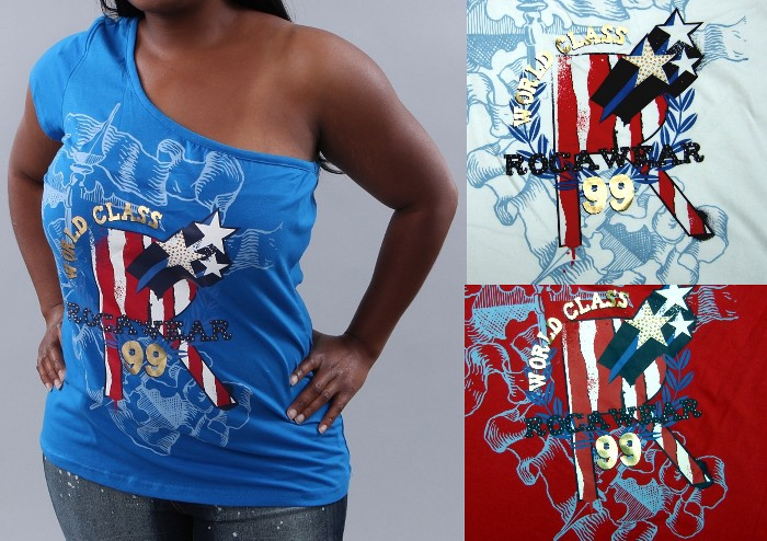Rocawear Plus Size One Shoulder Tee