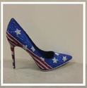 AMERICAN FLAG STAR STRIPES STUDDED RHINESTONE SING