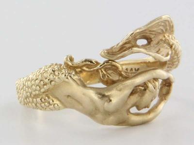 mermaid gold ring