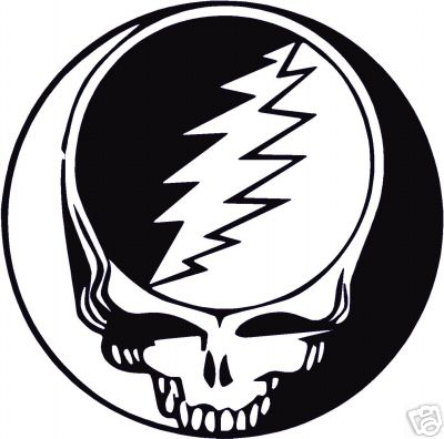 Govinyl grateful dead skull vinyl decal sticker 5 quot x 5 quot
