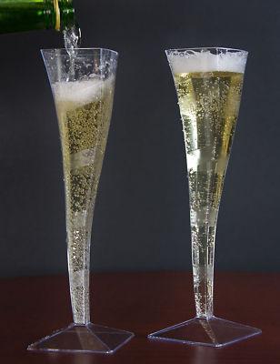 Good Quality Paper Goods 5oz Square Plastic Champagne