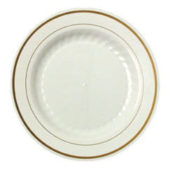 Good Quality Paper Goods 10 Quot China Look Gold Rimmed