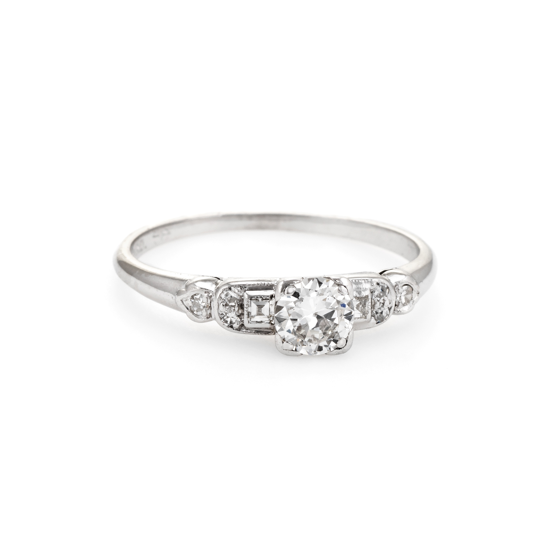 46ea2e41b Details about Antique Deco Diamond Engagement Ring Vintage Platinum Estate  Fine Jewelry 6.25