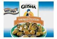 GEISHA SMOKED OYSTER 3.75 OZ