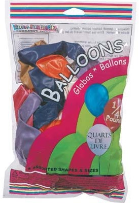 COLOR FANTASTIK BALLOONS ASSORTED SHAPES & SIZES 1