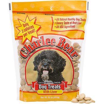 CHARLEE BEAR DOG TREATS WITH LIVER - 16 OZ
