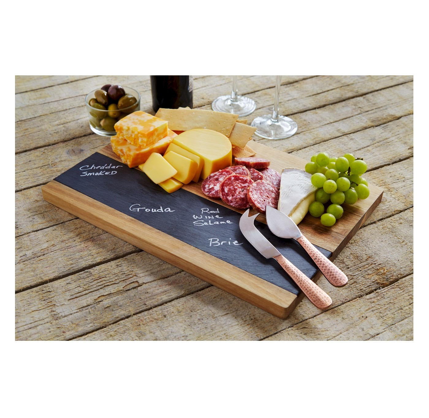 New in the box - Refinery Cheese Board Wood with 2