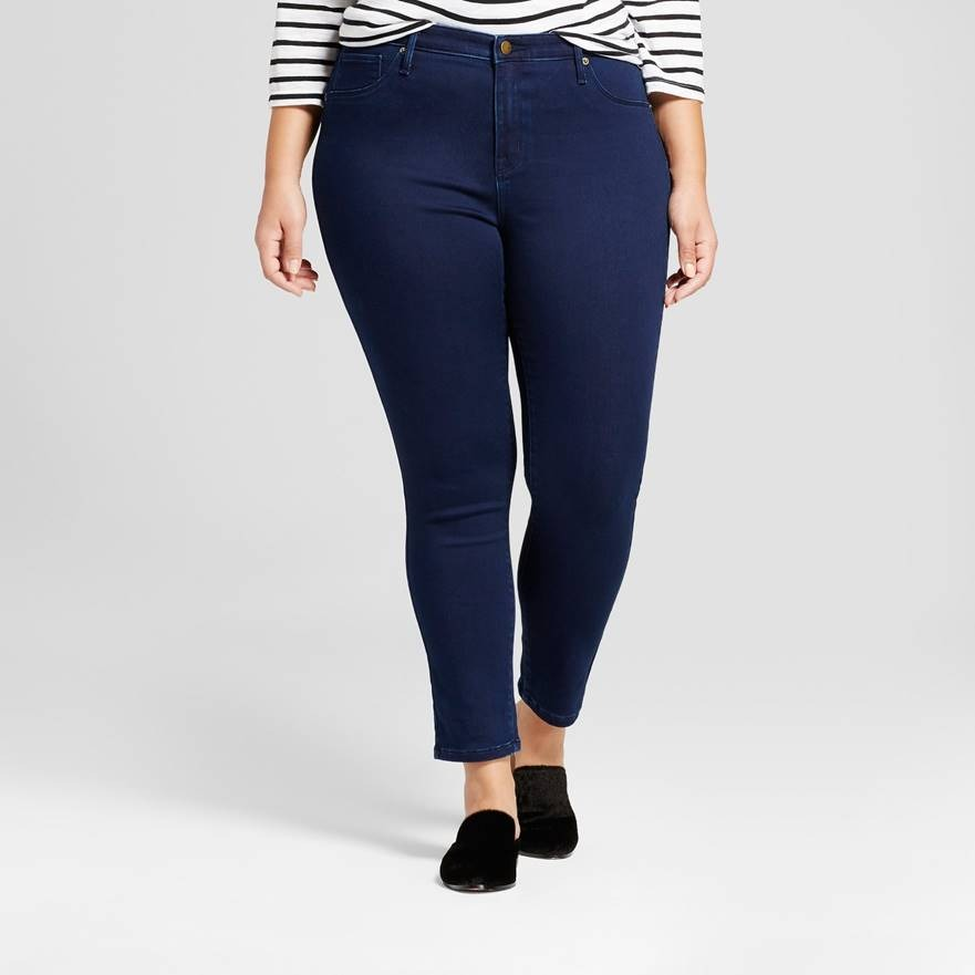 Ava & Viv  Dark Blue Women's Plus Size Super Stret
