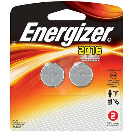 ENERGIZER 2016 3V LITHIUM BATTERIES  2-PACK