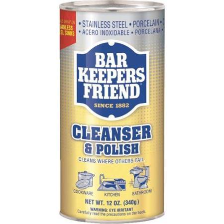 BAR KEEPERS FRIEND CLEANSER & POLISH -12 OZ
