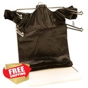 1000 Black Plastic T-Shirt Bags Grocery Shopping C