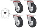 "iSaveBig - 3"" Swivel Caster Wheels Rubber Base wit"