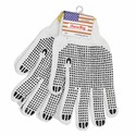 12 Pairs Superior Grip PVC Dotted Breathable Knit