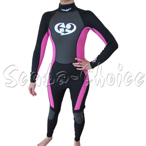 Maui-Sons-3-2-mm-Womans-Neoprene-Long-Sleeve-Surfing-Suit-Black-Pink