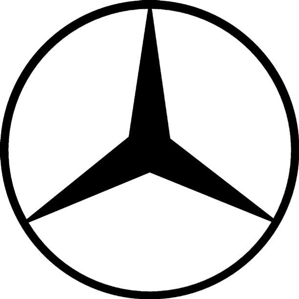Clear cut vinyl mercedes benz window sticker decal for Mercedes benz decal