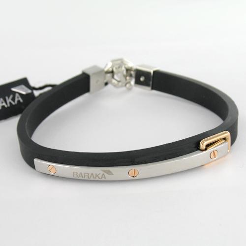 baraka 18k gold rubber steel bracelet designer jewelry gldnet
