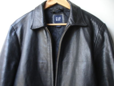 Gap black leather jacket