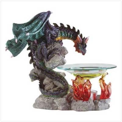 Bestdealsinside beautiful mythical dragon oil burner warmer tart candle - Dragon oil warmer ...