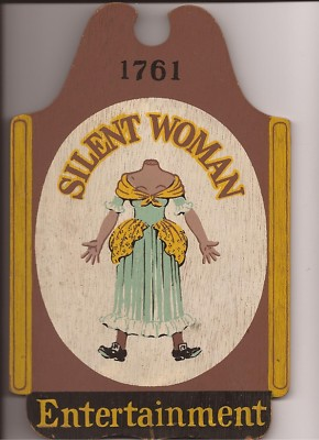 Acobbmemorabilia Silent Woman Entertainment Wooden Sign
