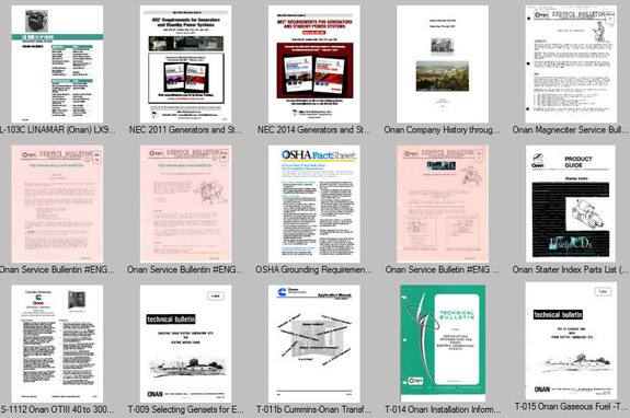 Details about Recreational Vehicale RV Generator Service Manuals Parts on