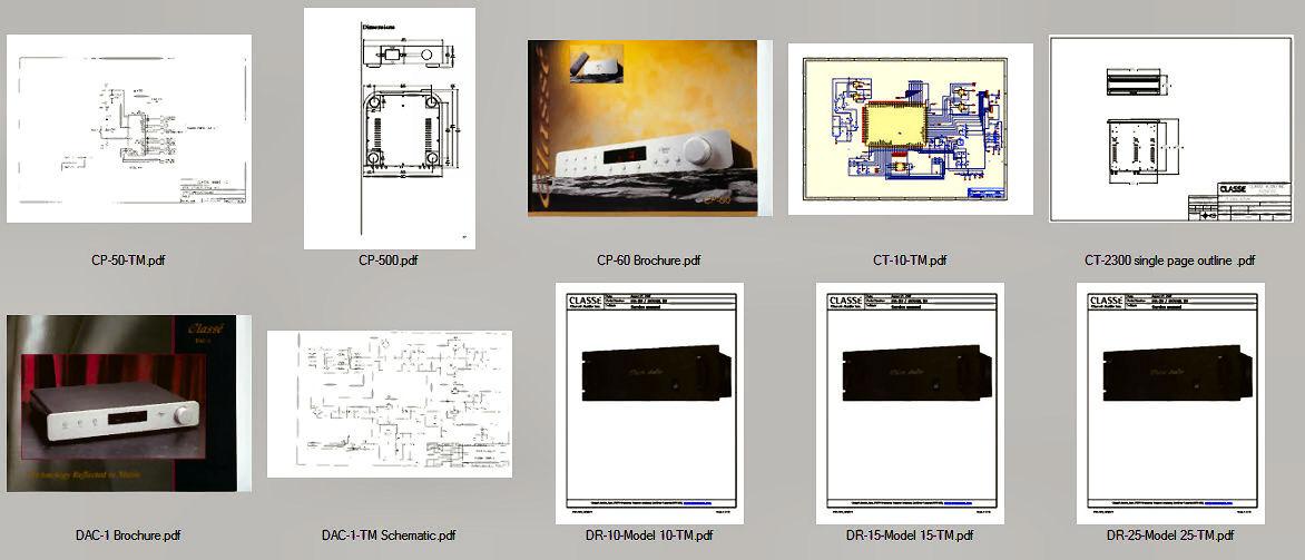 Classe Audio Service Manuals ca-m300 cp-60 dr-5 cp 800 Rare Custom PDF CD *Nice*