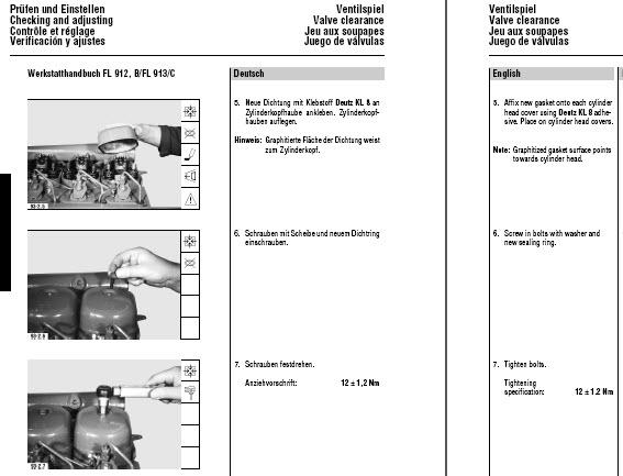 deutz 912 913 914 service manual 3 4 6 cylinder repair workshop pdf rh ebay com F3L912 Deutz Engine Parts Manual f3l912 deutz engine parts manual