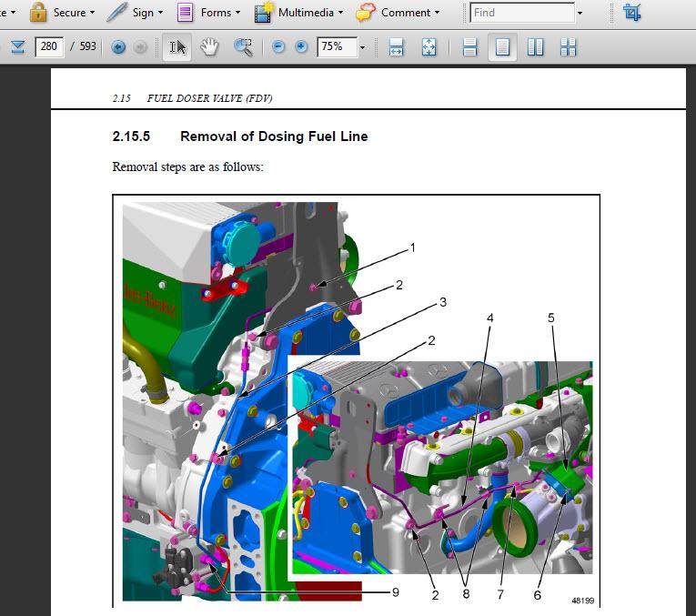 Detroit Diesel Mercedes Mbe 4000 Mbe4000 Technical Service Manual Repair Pdf Cd Ebay