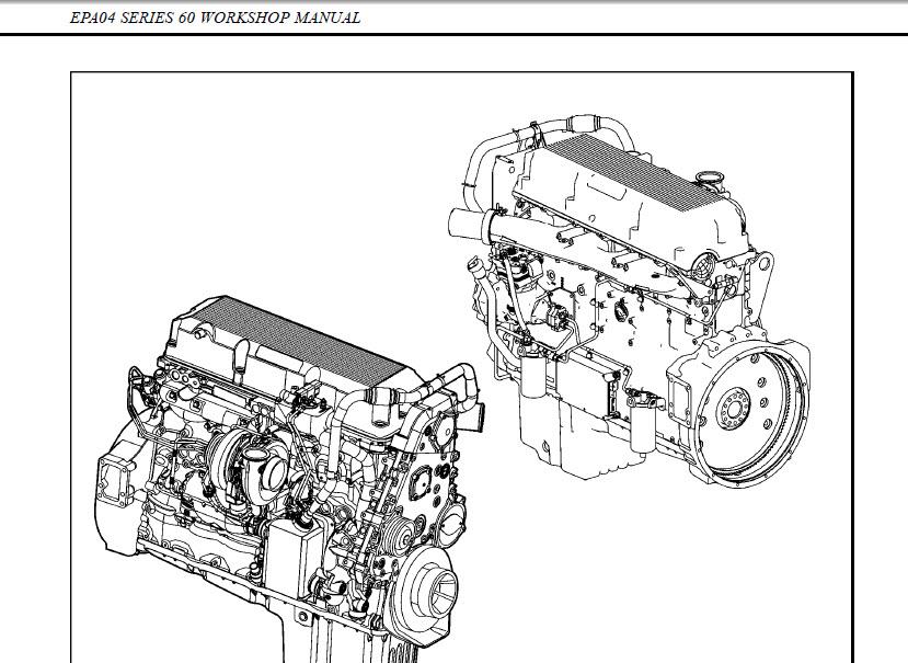 detroit diesel series 60 workshop factory service manual 2010 repair pdf cd