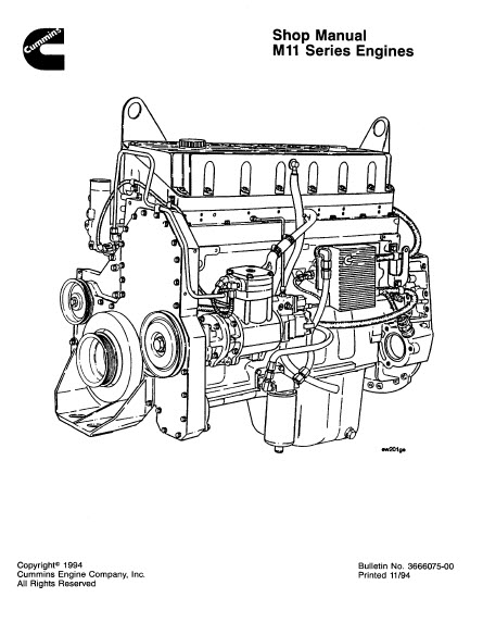 cummins m11 series service manual workshop instruction