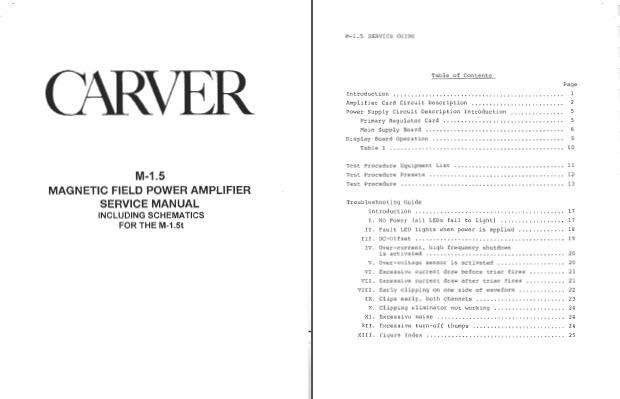 carver service manuals vintage schematics audio hifi repair manual rh ebay com career service manual carter service manual cm448