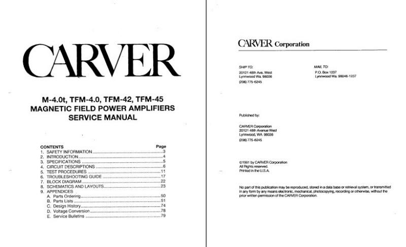 Carver service manuals vintage schematics audio hifi repair manual image hosting by vendio fandeluxe Images