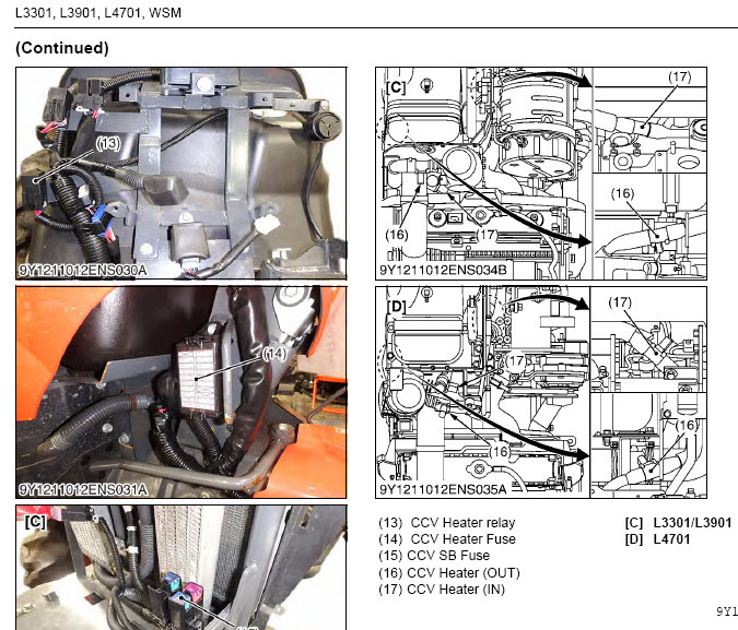 Details about Kubota L3301 L3901 L4701 Tractor WSM Service Manual Owners  Rare Custom PDF CD