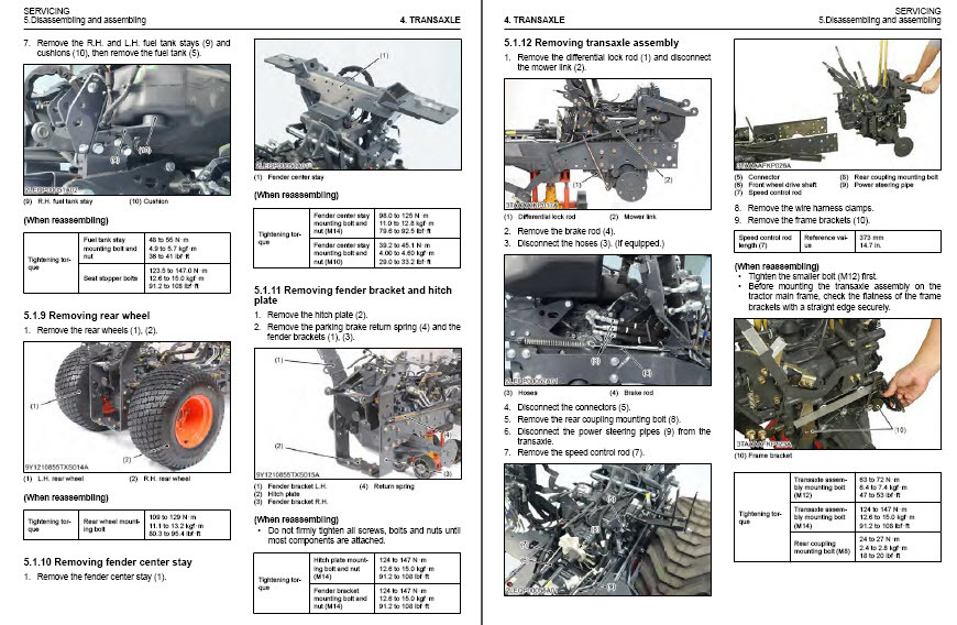 Details about Kubota Tractor BX23S LA340 BT603 WSM Service Manual Owners  Rare Custom PDF CD