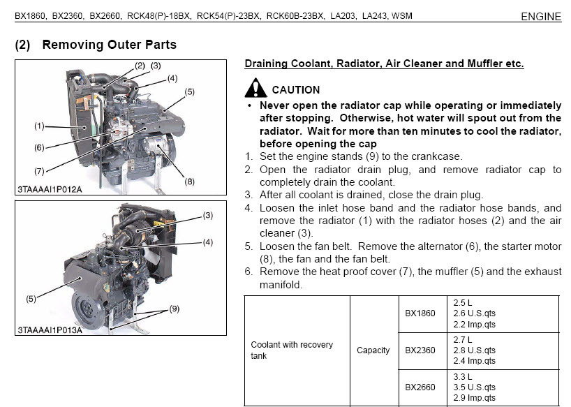 Kubota Bx1860 Bx2360 Bx2660 Tractor Service Manual Wsm Repair Pdf Cd 2009