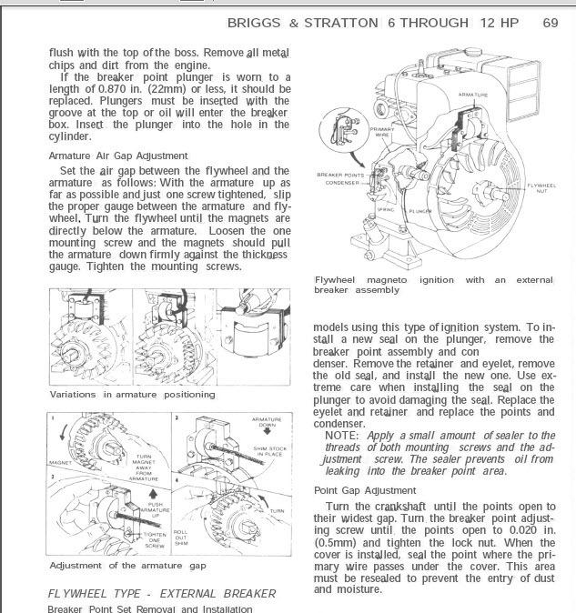 Small Engine Service Repair Briggs Stratton Tecumseh Kohler Pdf Cd Ebay