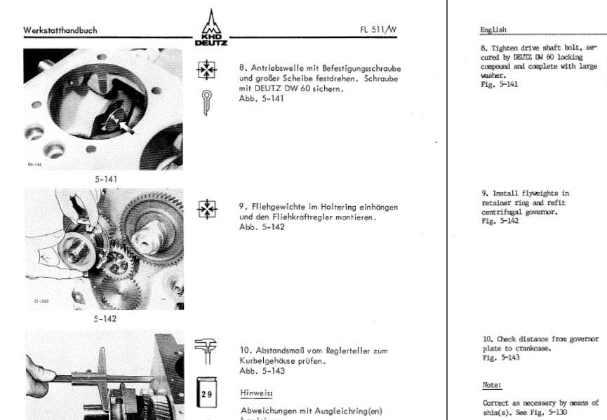 Deutz engine service Manual F2l511