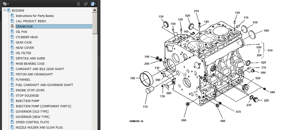 kubota bx2200 bx2200d tractor parts manuals set 5 in 1 bonus pdf cd