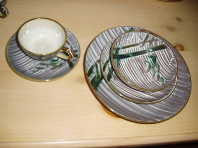 Mmollet 27 Occupied Japan Bamboo Plates China Vintage