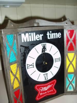 Mmollet Miller Lite Bar Beer Sign Advertising Vintage Antique